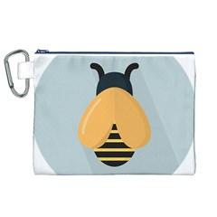 Animals Bee Wasp Black Yellow Fly Canvas Cosmetic Bag (xl) by Alisyart