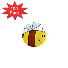Animals Bee Wasp Smile Face 1  Mini Magnets (100 Pack)  by Alisyart