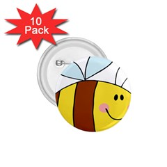 Animals Bee Wasp Smile Face 1 75  Buttons (10 Pack) by Alisyart