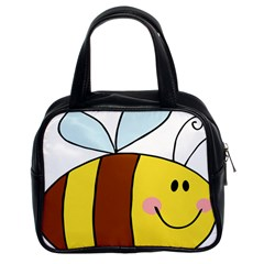 Animals Bee Wasp Smile Face Classic Handbags (2 Sides) by Alisyart