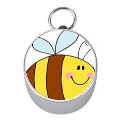 Animals Bee Wasp Smile Face Mini Silver Compasses by Alisyart