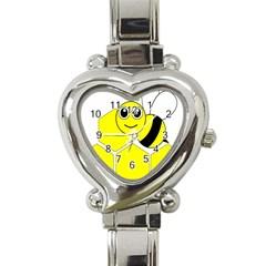 Bee Wasp Yellow Heart Italian Charm Watch by Alisyart