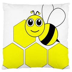 Bee Wasp Yellow Standard Flano Cushion Case (one Side) by Alisyart