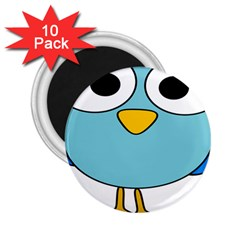 Bird Big Eyes Blue 2 25  Magnets (10 Pack)  by Alisyart