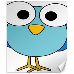 Bird Big Eyes Blue Canvas 8  X 10  by Alisyart