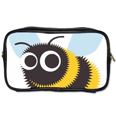 Bee Wasp Face Sinister Eye Fly Toiletries Bags by Alisyart