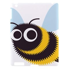 Bee Wasp Face Sinister Eye Fly Apple Ipad 3/4 Hardshell Case by Alisyart