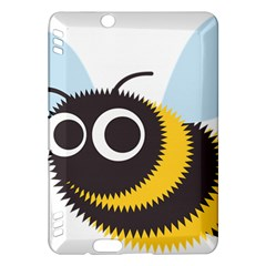 Bee Wasp Face Sinister Eye Fly Kindle Fire Hdx Hardshell Case by Alisyart