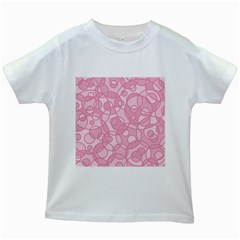 Pattern Kids White T Shirts by Valentinaart