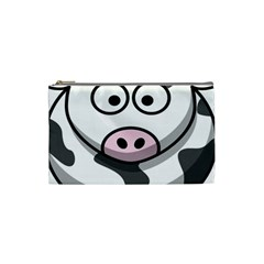 Animals Cow  Face Cute Cosmetic Bag (small)  by Alisyart