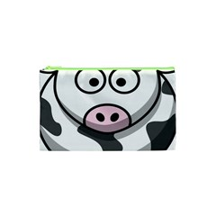 Animals Cow  Face Cute Cosmetic Bag (xs) by Alisyart