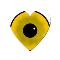 Big Eye Red Black Heart Magnet by Alisyart