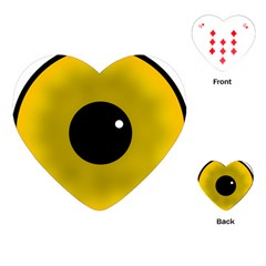 Big Eye Red Black Playing Cards (heart)  by Alisyart