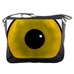Big Eye Red Black Messenger Bags by Alisyart