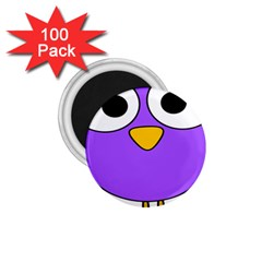 Bird Big Eyes Purple 1 75  Magnets (100 Pack)  by Alisyart
