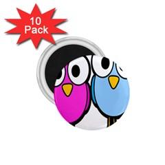 Bird Big Eyes Pink Blue 1 75  Magnets (10 Pack)  by Alisyart