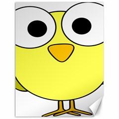 Bird Big Eyes Yellow Green Canvas 12  X 16   by Alisyart