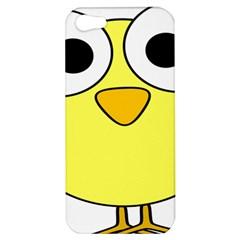 Bird Big Eyes Yellow Green Apple Iphone 5 Hardshell Case by Alisyart