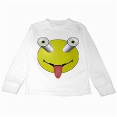 Bug Eye Tounge Kids Long Sleeve T Shirts by Alisyart