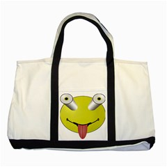 Bug Eye Tounge Two Tone Tote Bag by Alisyart