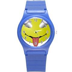 Bug Eye Tounge Round Plastic Sport Watch (s) by Alisyart
