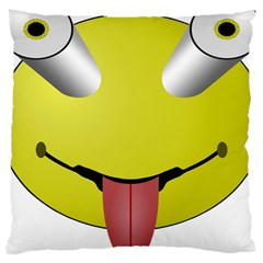 Bug Eye Tounge Large Cushion Case (one Side) by Alisyart