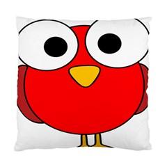 Bird Big Eyes Red Standard Cushion Case (one Side) by Alisyart