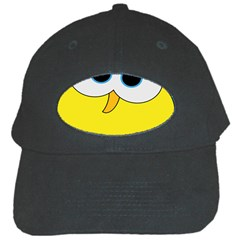 Bird Big Eyes Yellow Black Cap by Alisyart
