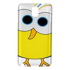 Bird Big Eyes Yellow Samsung Galaxy Note 3 N9005 Hardshell Case by Alisyart