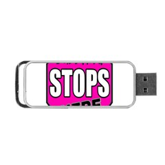 Bullying Stops Here Pink Sign Portable Usb Flash (one Side) by Alisyart