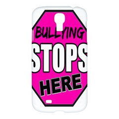 Bullying Stops Here Pink Sign Samsung Galaxy S4 I9500/i9505 Hardshell Case by Alisyart