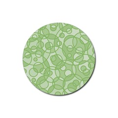 Pattern Rubber Round Coaster (4 Pack)  by Valentinaart