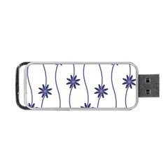 Geometric Flower Seamless Repeating Pattern With Curvy Lines Portable Usb Flash (one Side) by Simbadda