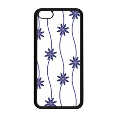 Geometric Flower Seamless Repeating Pattern With Curvy Lines Apple Iphone 5c Seamless Case (black) by Simbadda