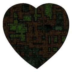 Circuit Board A Completely Seamless Background Design Jigsaw Puzzle (heart) by Simbadda