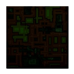 Circuit Board A Completely Seamless Background Design Face Towel by Simbadda