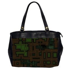 Circuit Board A Completely Seamless Background Design Office Handbags (2 Sides)  by Simbadda