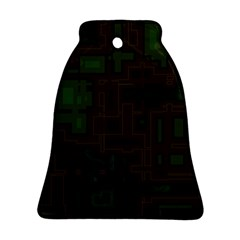 Circuit Board A Completely Seamless Background Design Ornament (bell)