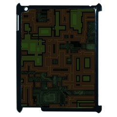 Circuit Board A Completely Seamless Background Design Apple Ipad 2 Case (black) by Simbadda