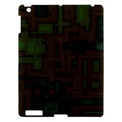 Circuit Board A Completely Seamless Background Design Apple Ipad 3/4 Hardshell Case by Simbadda