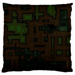 Circuit Board A Completely Seamless Background Design Large Cushion Case (two Sides) by Simbadda