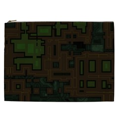 Circuit Board A Completely Seamless Background Design Cosmetic Bag (xxl)  by Simbadda