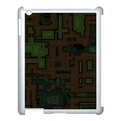 Circuit Board A Completely Seamless Background Design Apple Ipad 3/4 Case (white) by Simbadda
