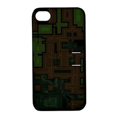 Circuit Board A Completely Seamless Background Design Apple Iphone 4/4s Hardshell Case With Stand by Simbadda