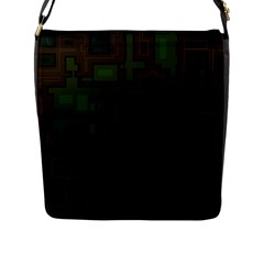 Circuit Board A Completely Seamless Background Design Flap Messenger Bag (l)  by Simbadda