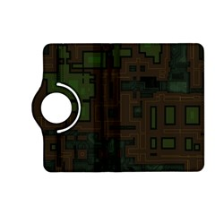 Circuit Board A Completely Seamless Background Design Kindle Fire Hd (2013) Flip 360 Case by Simbadda