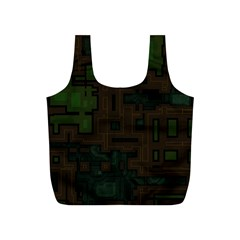 Circuit Board A Completely Seamless Background Design Full Print Recycle Bags (s)  by Simbadda