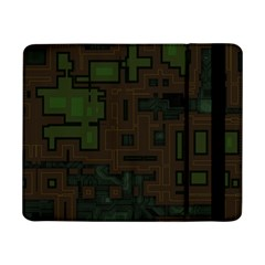 Circuit Board A Completely Seamless Background Design Samsung Galaxy Tab Pro 8 4  Flip Case by Simbadda