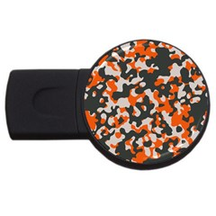 Camouflage Texture Patterns Usb Flash Drive Round (2 Gb) by Simbadda