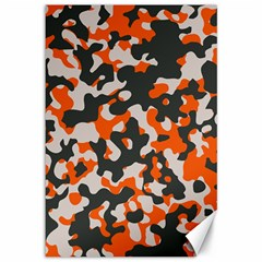 Camouflage Texture Patterns Canvas 12  X 18   by Simbadda